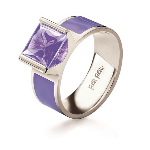 Επάργυρο δαχτυλίδι Folli Follie με μοβ κρυστάλλινη πέτρα (1435248.0-0000)  b43cfa034b1