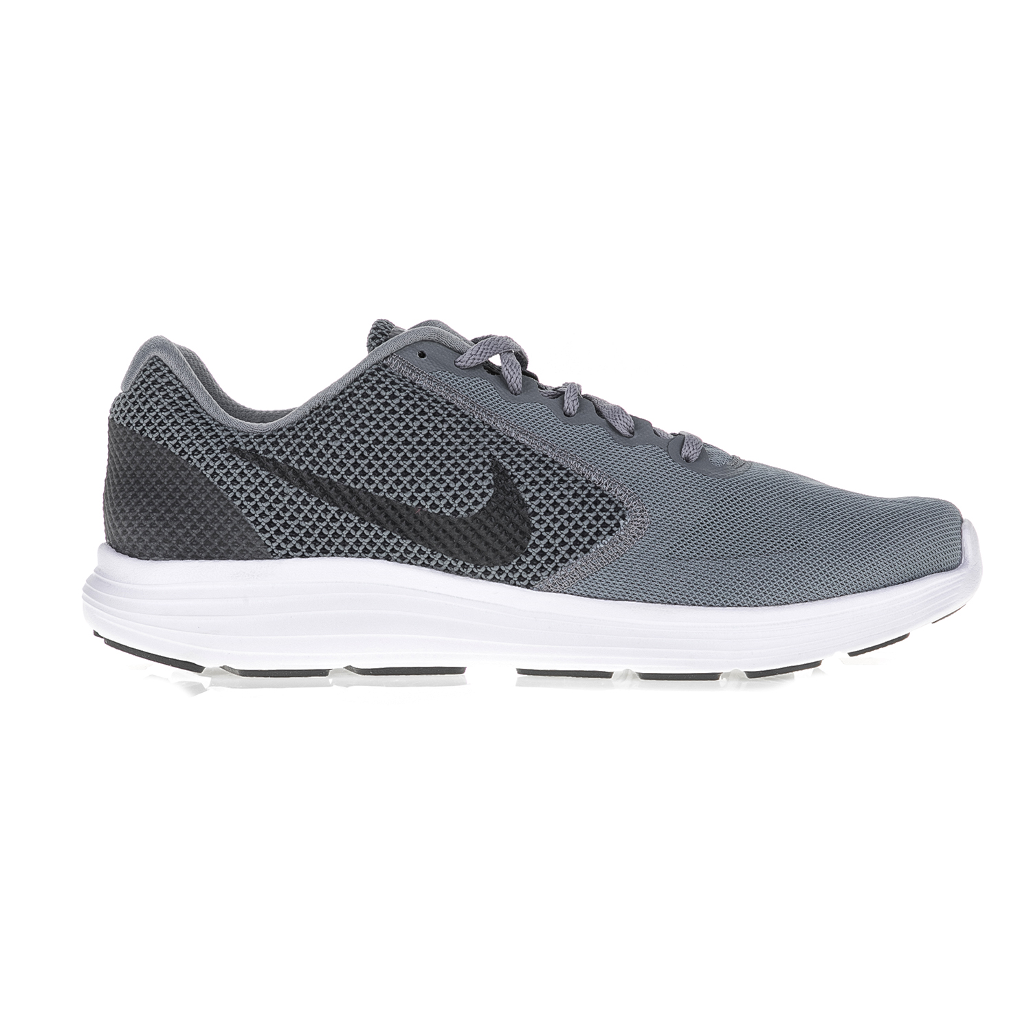 7a986859dbb NIKE – Ανδρικά αθλητικά παπούτσια NIKE REVOLUTION 3 γκρι-λευκά.  Factoryoutlet