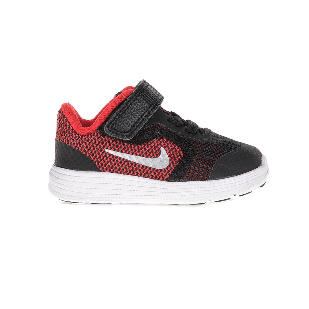 NIKE – Βρεφικά παπούτσια NIKE REVOLUTION 3 μαύρα – κόκκινα