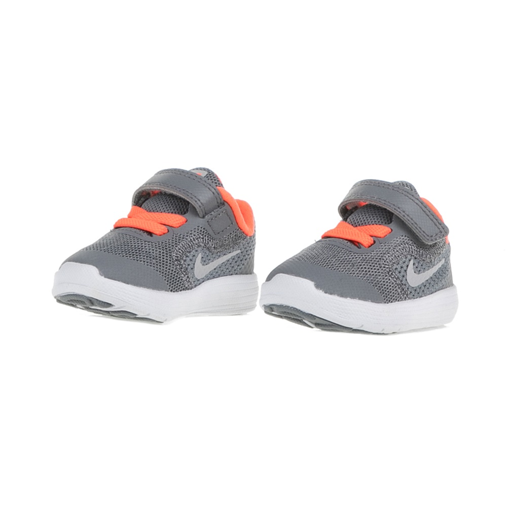 5284d14304b NIKE - Παιδικά αθλητικά παπούτσια NIKE REVOLUTION 3 (TDV) γκρι-πορτοκαλί,  Βρεφικά αθλητικά παπούτσια, ΠΑΙΔΙ | ΠΑΠΟΥΤΣΙΑ | ΒΡΕΦΙΚΑ