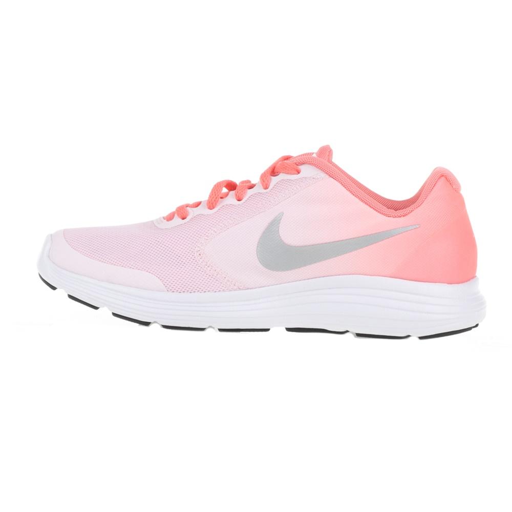 NIKE - Παιδικά αθλητικά παπούτσια NIKE REVOLUTION 3 (GS) ροζ-λευκά ... da16580155b