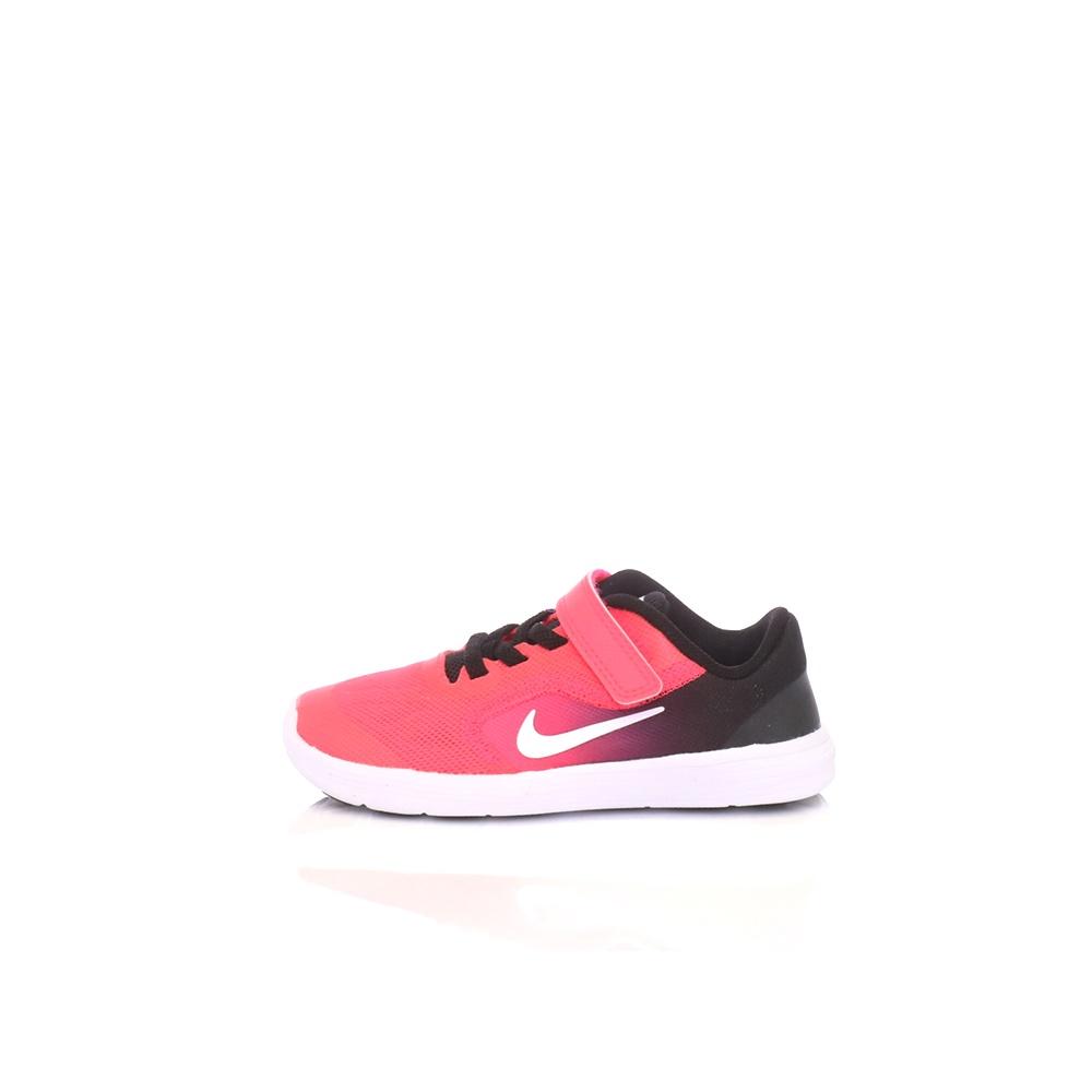 NIKE – Βρεφικά παπούτσια NIKE REVOLUTION 3 (TDV) φούξια-μαύρα