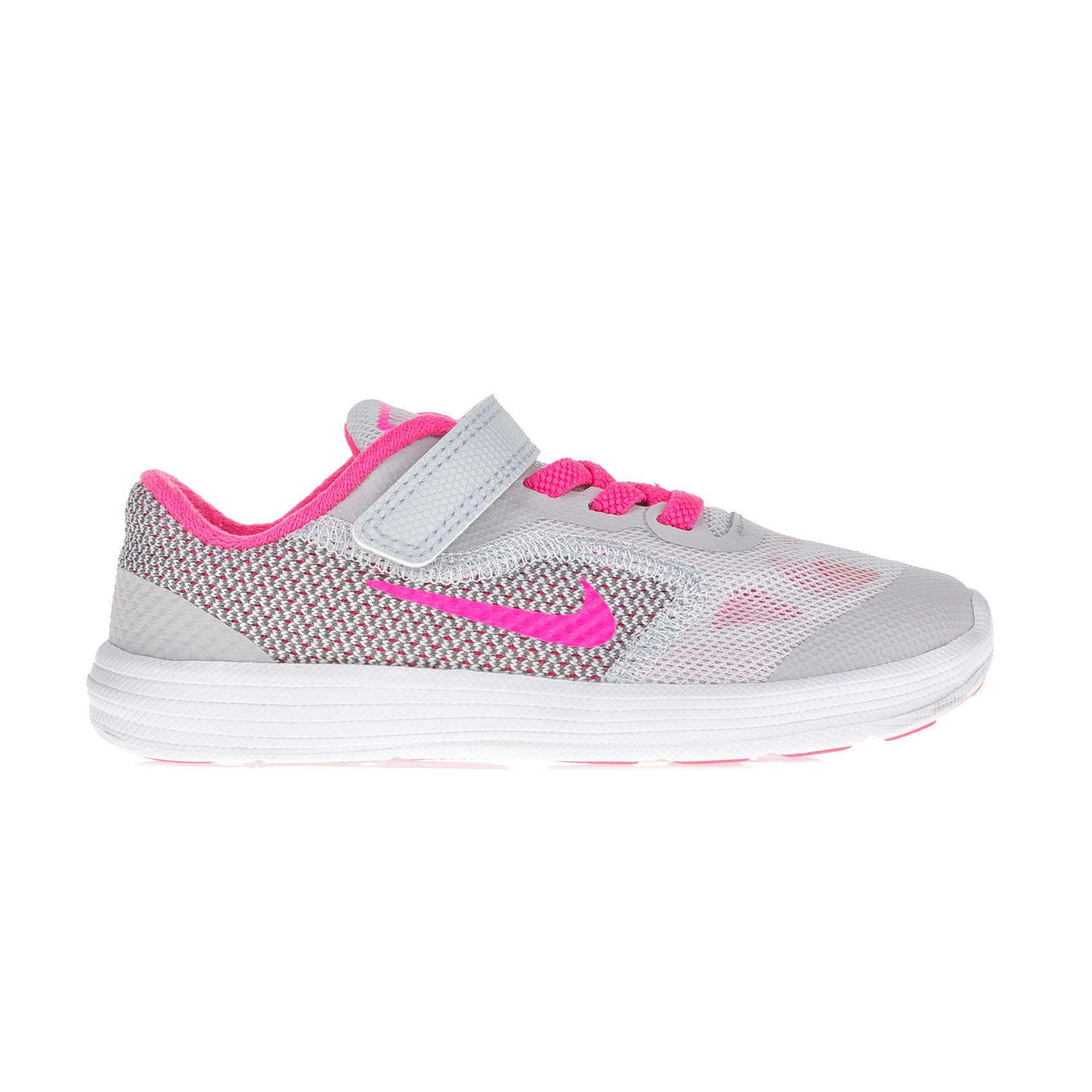 NIKE – Βρεφικά αθλητικά παπούτσια Nike REVOLUTION 3 (TDV) λευκά – ροζ