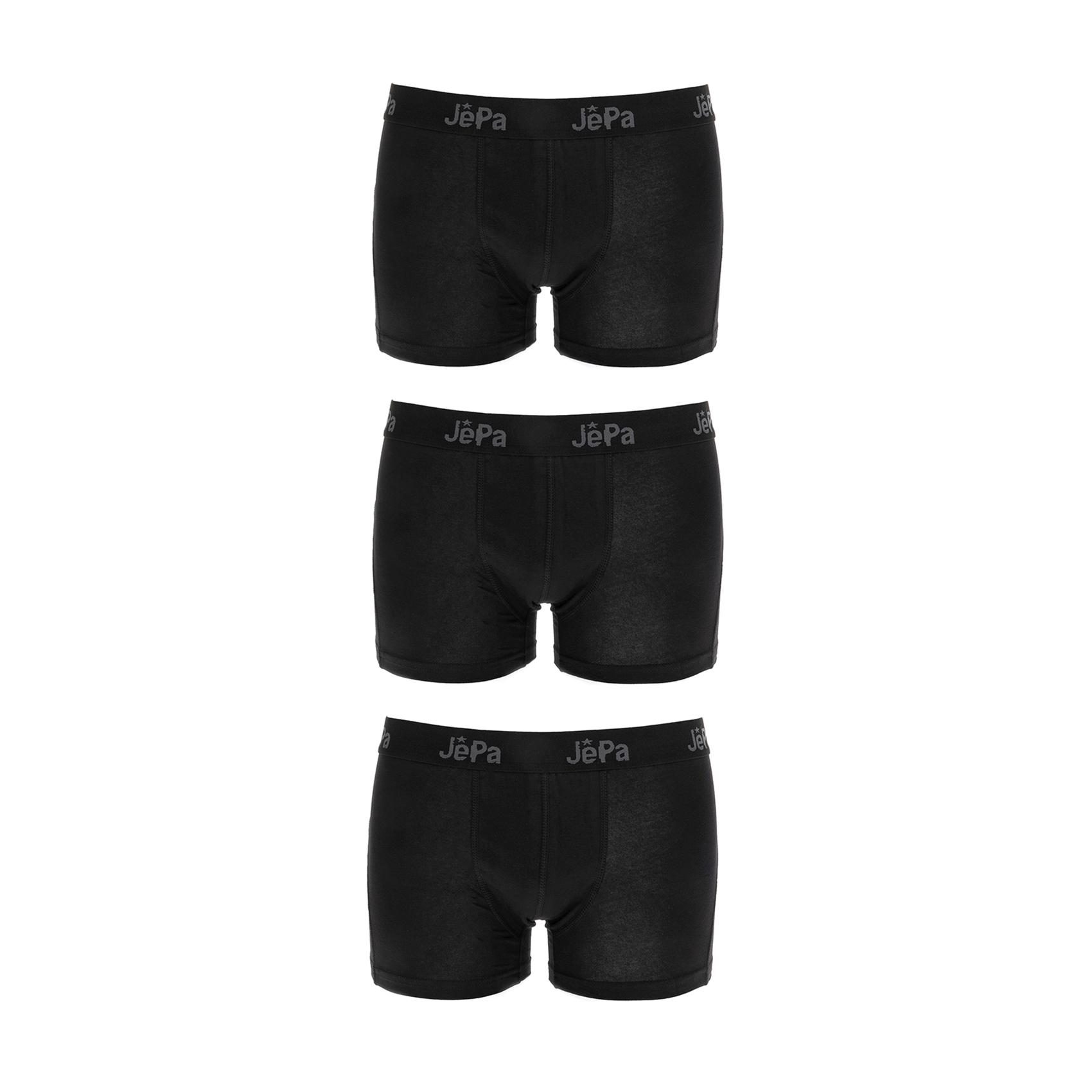GSA - Σετ από 3 μπόξερ GSA μαύρα ανδρικά ρούχα εσώρουχα μπόξερ