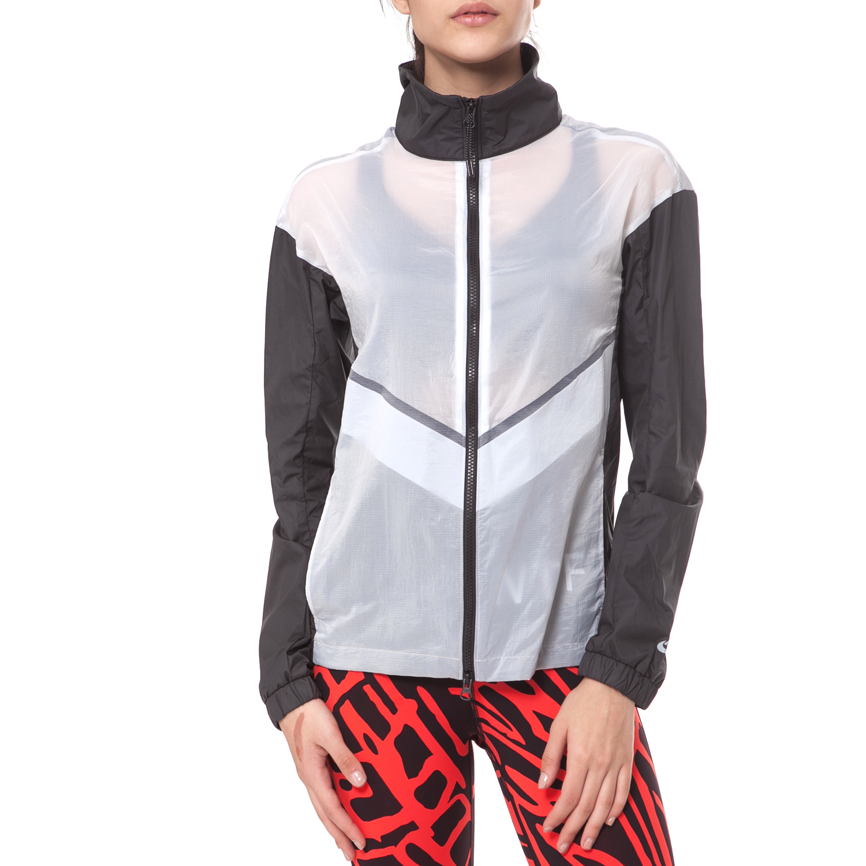 NIKE - Γυναικείο jacket NIKE RU ασπρόμαυρο γυναικεία ρούχα πανωφόρια μπουφάν