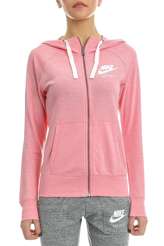 NIKE - Γυναικεία ζακέτα Nike GYM VNTG HOODIE FZ ροζ