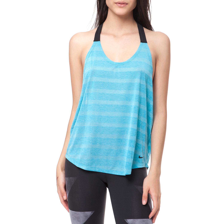NIKE - Γυναικεία μπλούζα NIKE μπλε γυναικεία ρούχα αθλητικά t shirt τοπ