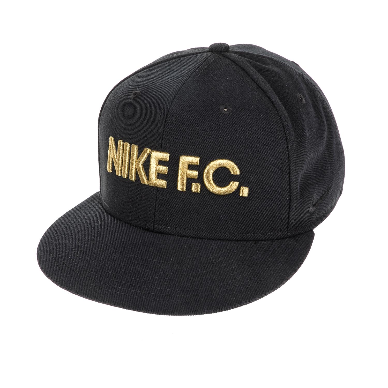 NIKE - Αθλητικό καπέλο NΙKΕ FC TRUE CAP CLASSIC μαύρο-χρυσό γυναικεία αξεσουάρ καπέλα αθλητικά