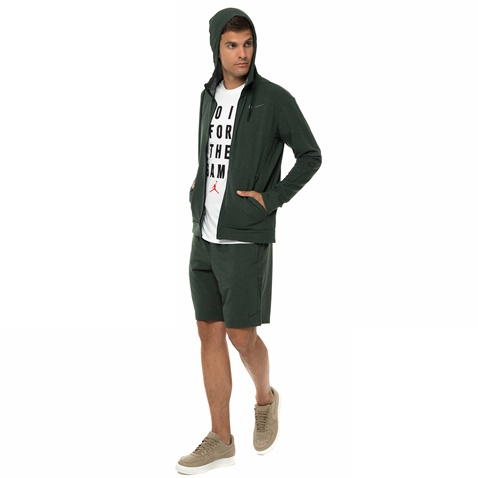 NIKE-Ανδρική φούτερ ζακέτα Nike DRY HOODIE FZ DF TRAIN FL πράσινη