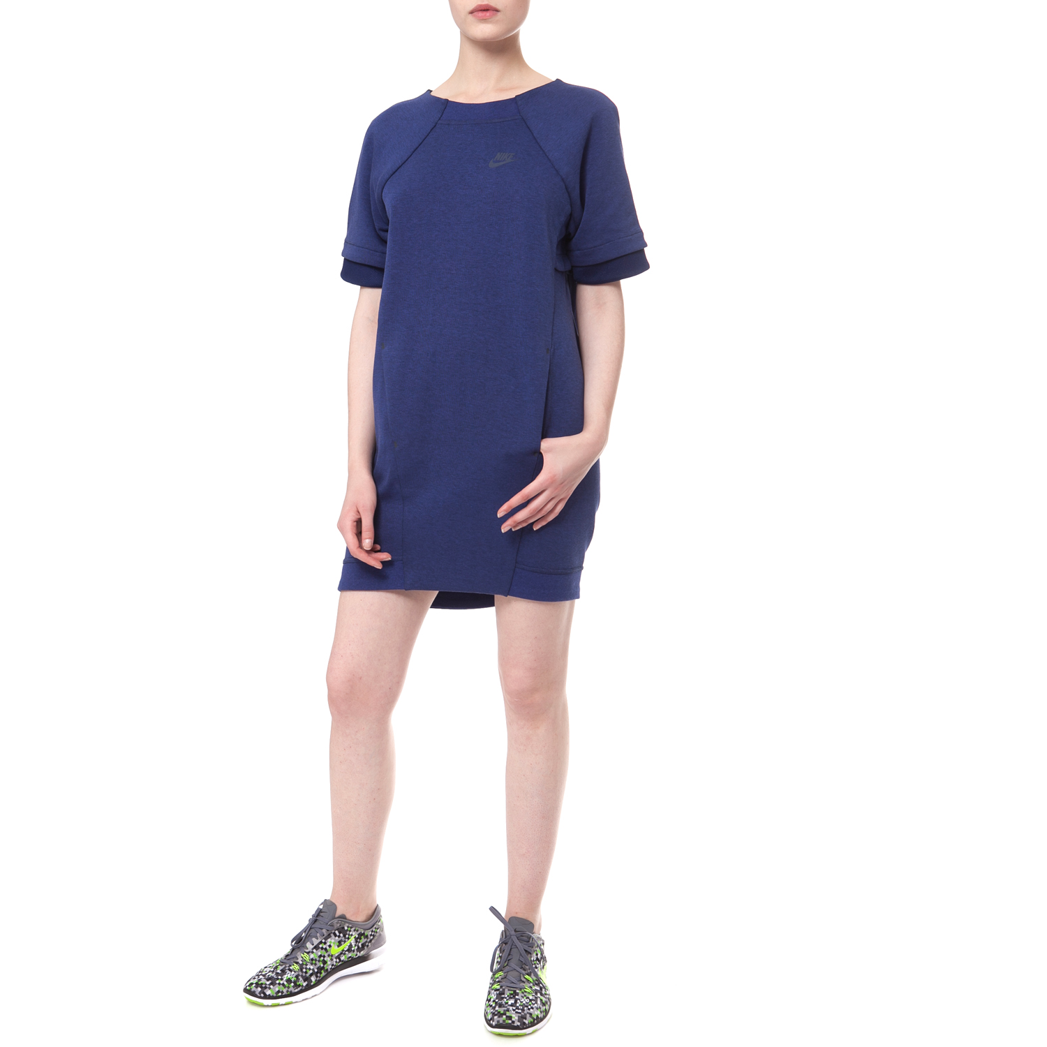 e74222acf8 NIKE - Φόρεμα Nike TECH FLEECE DRESS-MESH μπλε