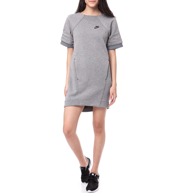 6e00f4cbe52 NIKE - Φόρεμα Nike TECH FLEECE DRESS-MESH γκρι μελανζέ