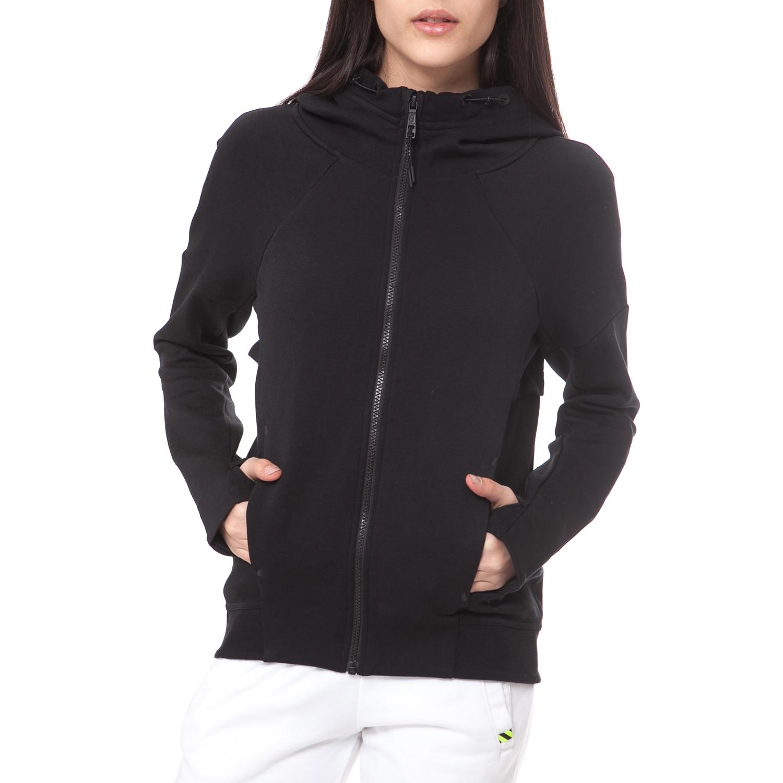 NIKE - Γυναικεία ζακέτα NIKE TECH FLEECE FZ HOODIE μαύρη γυναικεία ρούχα αθλητικά φούτερ μακρυμάνικα