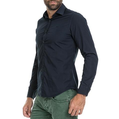 GAS-Ανδρικό πουκάμισο ANDREW/8 NEW POPEL GAS μπλε