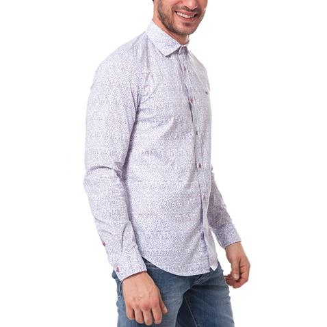 b10bd7d55272 Ανδρικό πουκάμισο Gas λευκό-γκρι (1437493.0-0045)