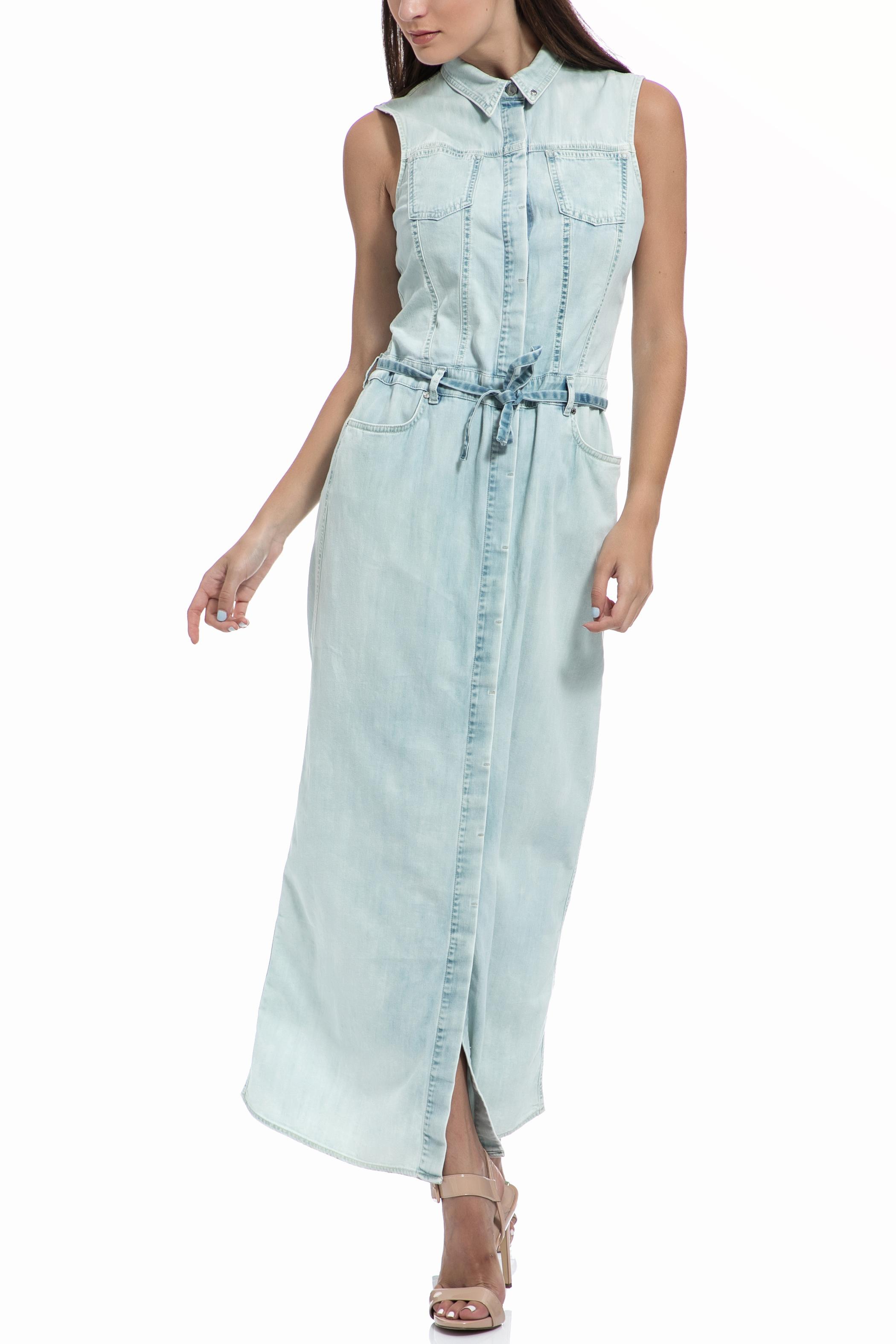 GAS - Μάξι ντένιμ φόρεμα GAS γαλάζιο γυναικεία ρούχα φορέματα μάξι