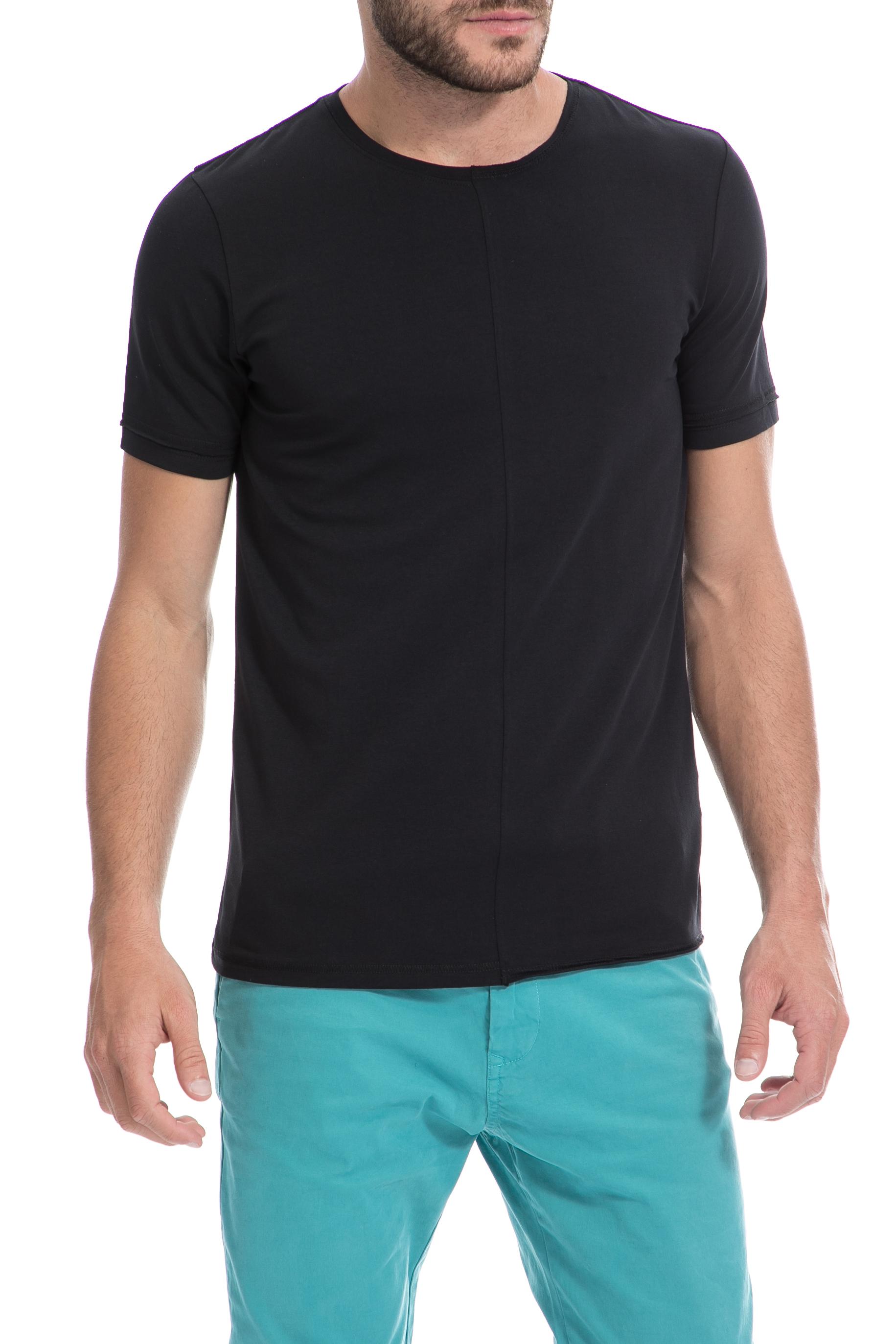 GAS - Ανδρική μπλούζα Gas μαύρη ανδρικά ρούχα μπλούζες κοντομάνικες