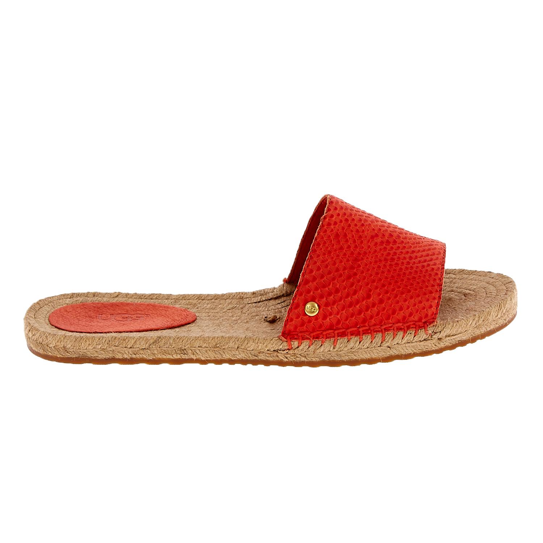 UGG – Γυναικεία flat mules UGG CHERRY EXOTIC κόκκινα