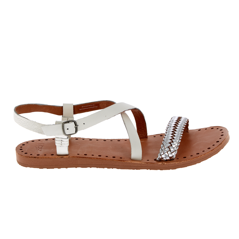UGG – Γυναικεία σανδάλια UGG JORDYNE λευκά-ασημί