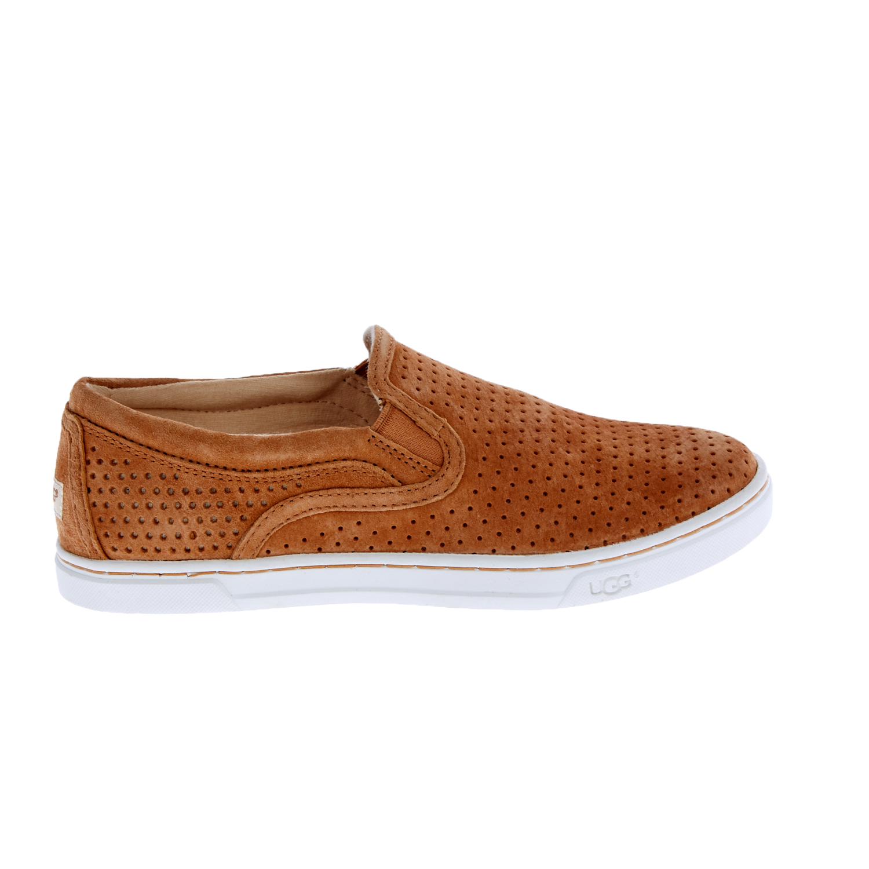 UGG - Γυναικεία slip-on sneakers UGG FIERCE GEO καφέ γυναικεία παπούτσια μοκασίνια μπαλαρίνες μοκασίνια