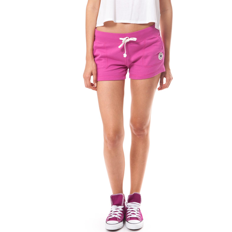 CONVERSE - Γυναικείο σορτς Converse ροζ γυναικεία ρούχα σορτς βερμούδες αθλητικά