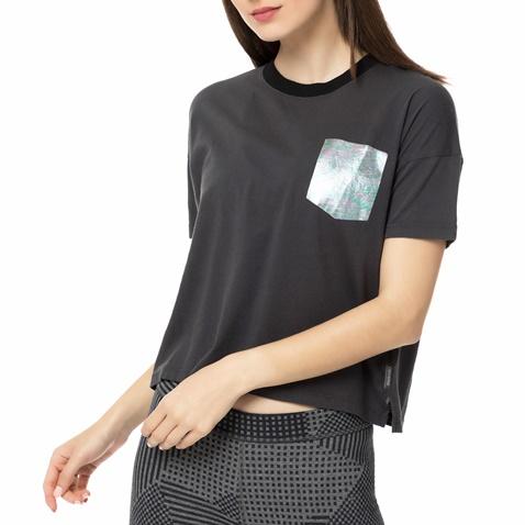 79eb419861f8 Γυναικεία κοντομάνικη μπλούζα CONVERSE μαύρη (1439837.0-0071 ...