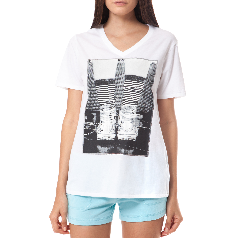 CONVERSE - Γυναικεία μπλούζα Converse λευκή
