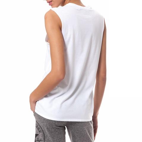 CONVERSE-Γυναικεία μπλούζα Converse λευκή