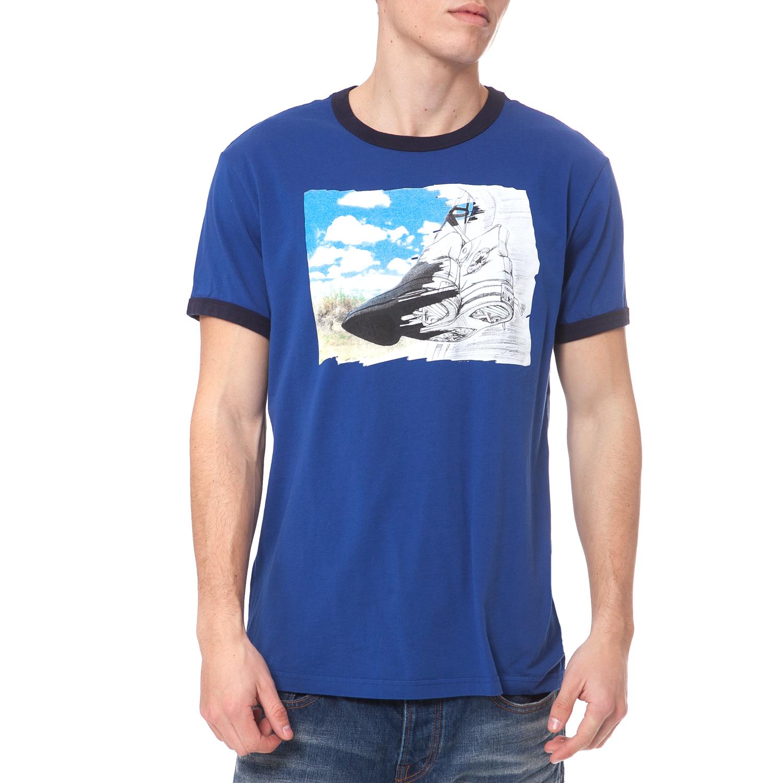 CONVERSE - Ανδρική μπλούζα Converse μπλε ανδρικά ρούχα αθλητικά t shirt