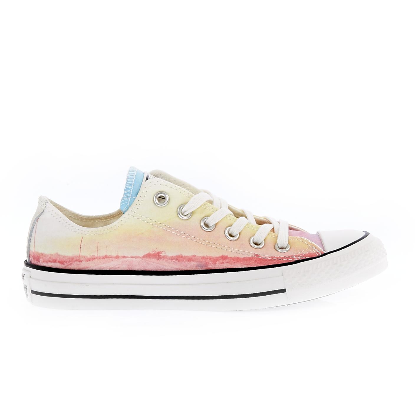 CONVERSE – Γυναικεία παπούτσια Chuck Taylor All Star Ox κίτρινα-ροζ