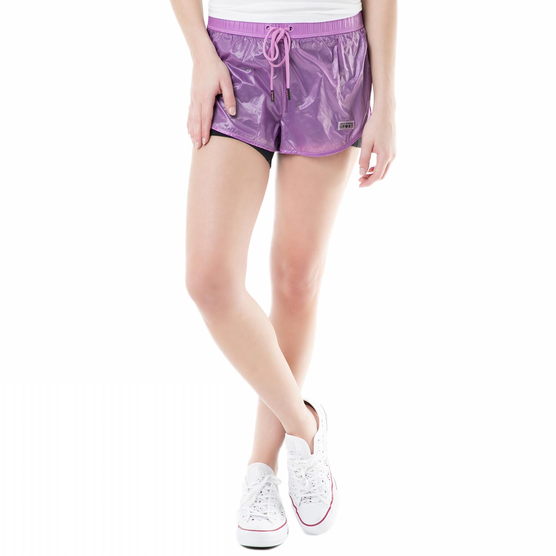 JUICY COUTURE - Γυναικείο σορτς sport sheer nylon Juicy Couture μοβ