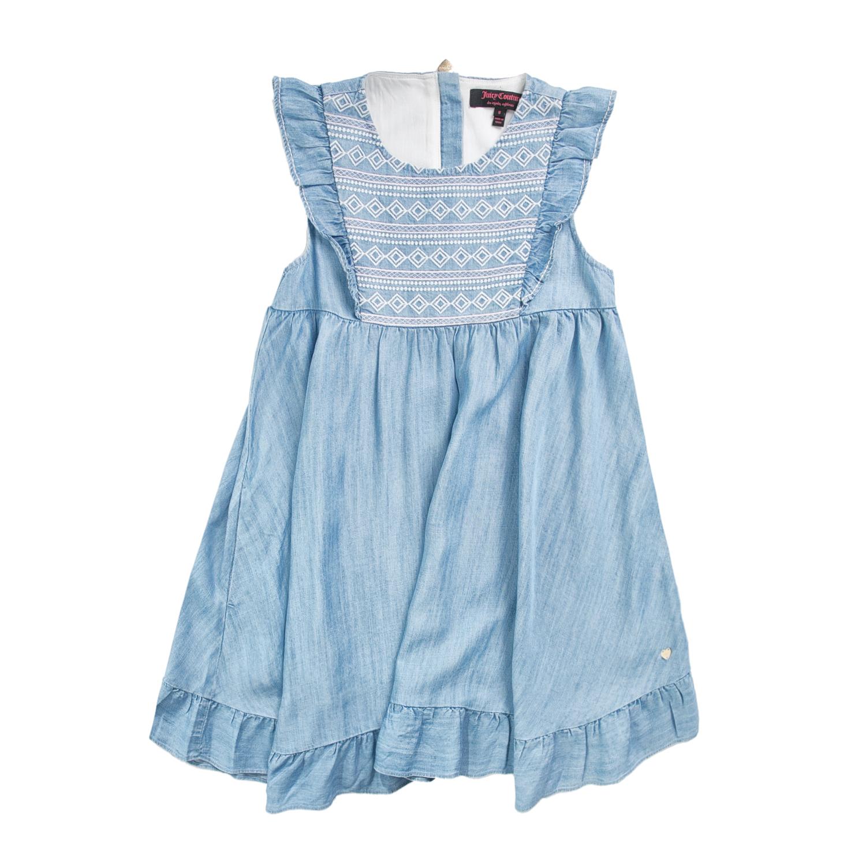 JUICY COUTURE KIDS – Κοριτσίστικο φόρεμα JUICY COUTURE γαλάζιο