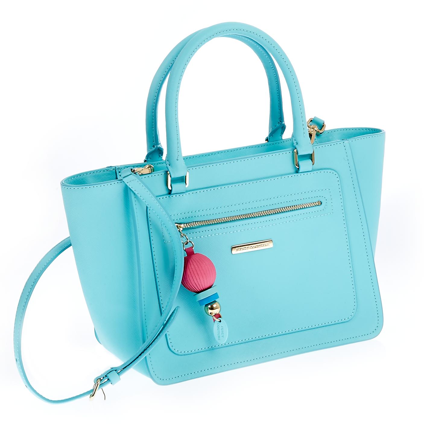 JUICY COUTURE - Γυναικεία τσάντα Juicy Couture μπλε γυναικεία αξεσουάρ τσάντες σακίδια χειρός