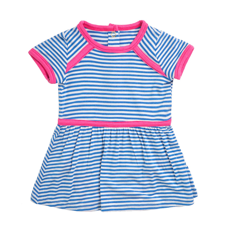 JUICY COUTURE KIDS - Βρεφικό ριγέ φόρεμα JUICY COUTURE μπλε-λευκό παιδικά baby ρούχα φορέματα