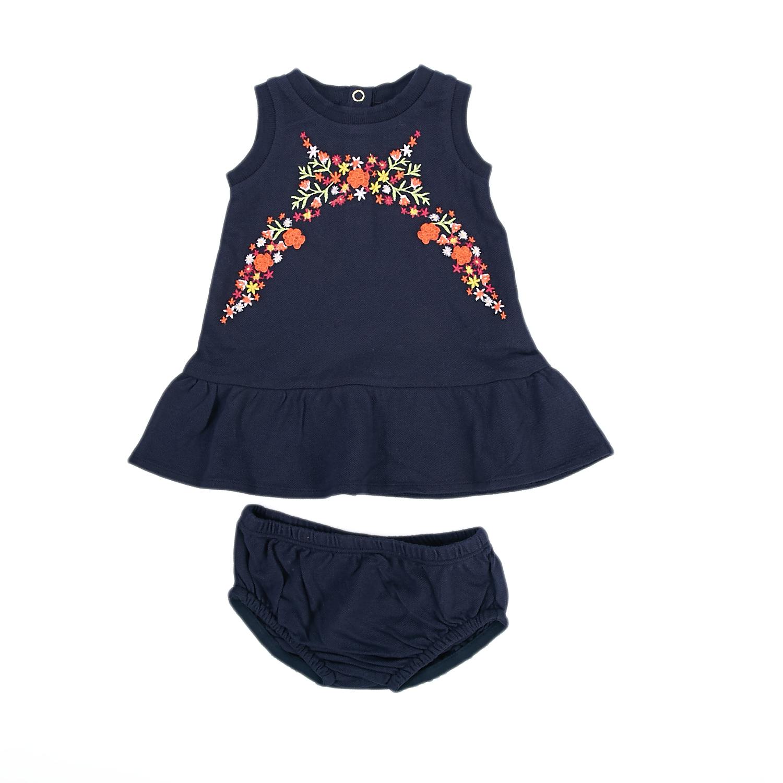 JUICY COUTURE KIDS - Βρεφικό φόρεμα Juicy Couture μπλε παιδικά baby ρούχα φορέματα