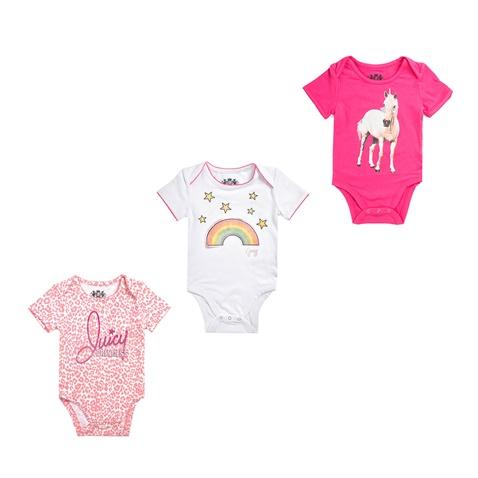 Σετ φορμάκια 3 τμχ JUICY COUTURE λευκά-ροζ - JUICY COUTURE KIDS  (1441531.0-91f1)  dfb98c6c283