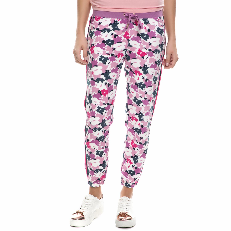 JUICY COUTURE - Παντελόνι φόρμας JUICY COUTURE μοβ φλοράλ γυναικεία ρούχα παντελόνια φόρμες