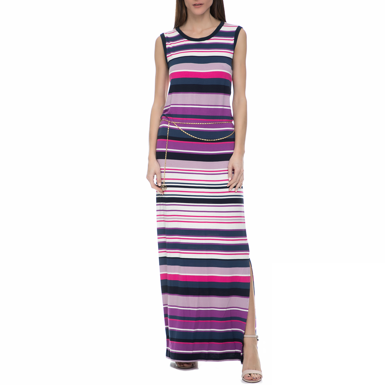 JUICY COUTURE - Γυναικείο αμάνικο μάξι φόρεμα Juicy Couture πολύχρωμο γυναικεία ρούχα φορέματα μάξι