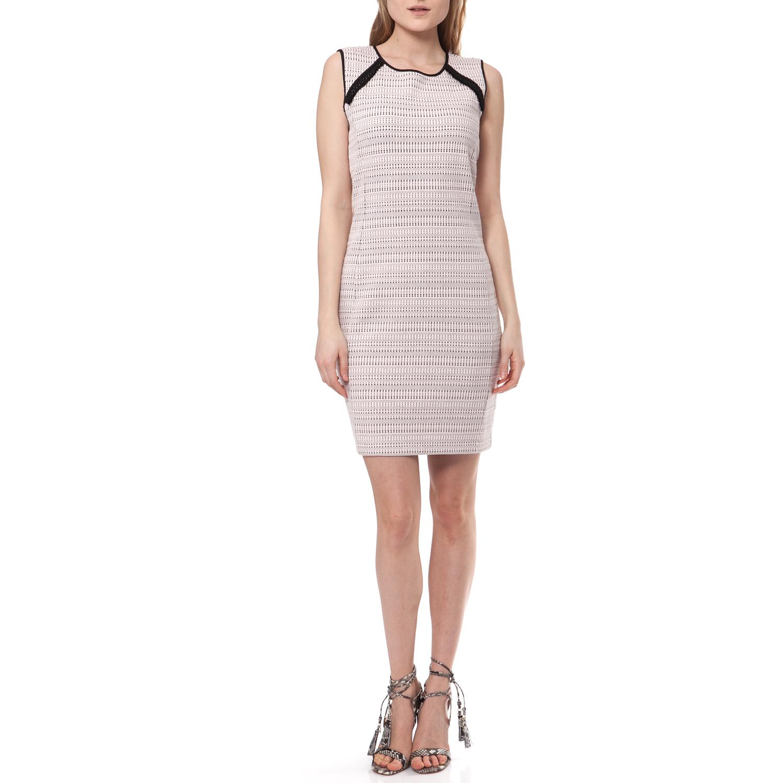 JUICY COUTURE - Γυναικείο φόρεμα Juicy Couture μπεζ γυναικεία ρούχα φορέματα μίνι