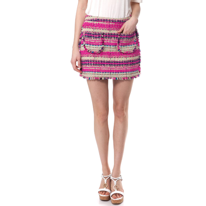 JUICY COUTURE - Γυναικεία φούστα Juicy Couture φούξια-μπεζ