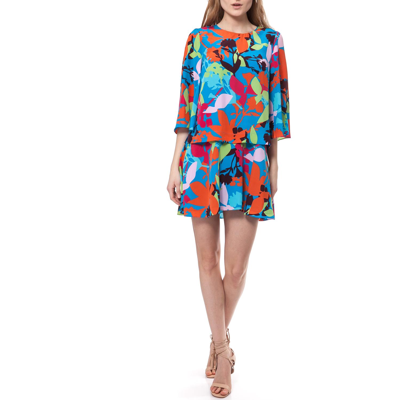 JUICY COUTURE - Γυναικείο φόρεμα Juicy Couture μπλε-πορτοκαλί γυναικεία ρούχα φορέματα μίνι