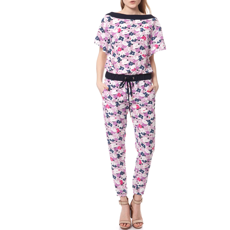 JUICY COUTURE - Γυναικεία ολόσωμη φόρμα Juicy Couture μαύρη-ροζ γυναικεία ρούχα ολόσωμες φόρμες