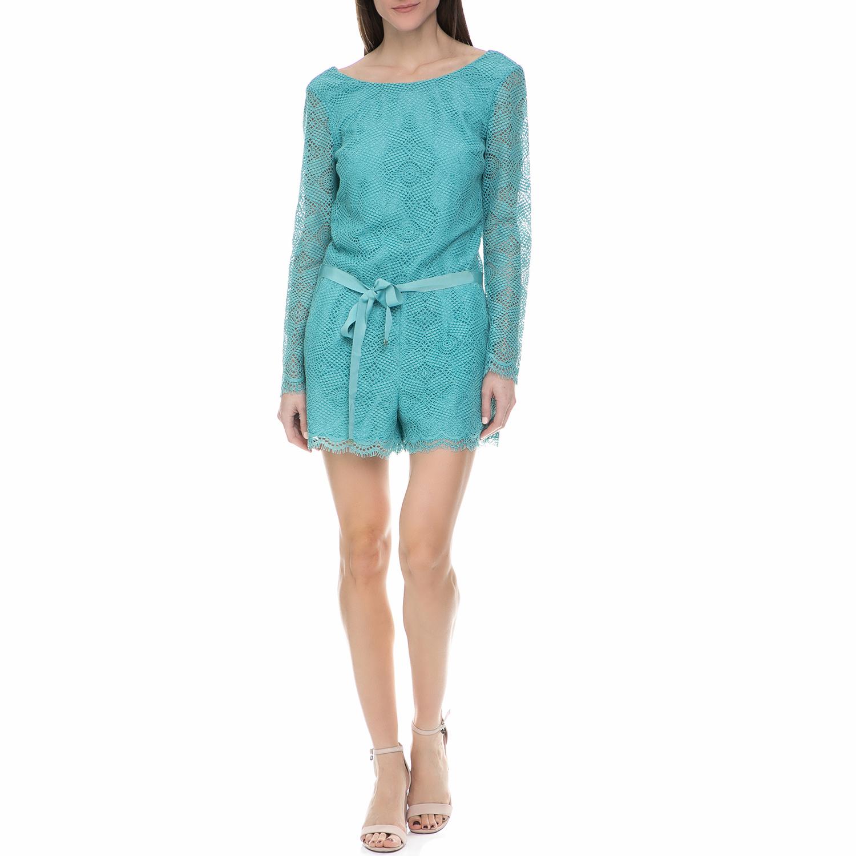 JUICY COUTURE - Γυναικείο ολόσωμο σορτς με δαντέλα Juicy Couture γαλάζιο γυναικεία ρούχα ολόσωμες φόρμες