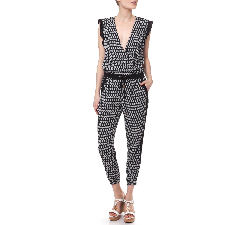 JUICY COUTURE - Γυναικεία ολόσωμη φόρμα Juicy Couture μαύρη-λευκή γυναικεία ρούχα ολόσωμες φόρμες