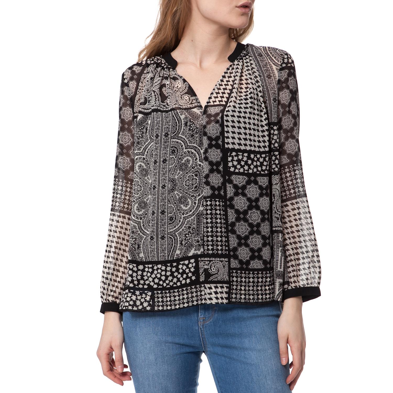 JUICY COUTURE – Γυναικεία τουνίκ Juicy Couture μαύρη-μπεζ 75d1de1ae5a