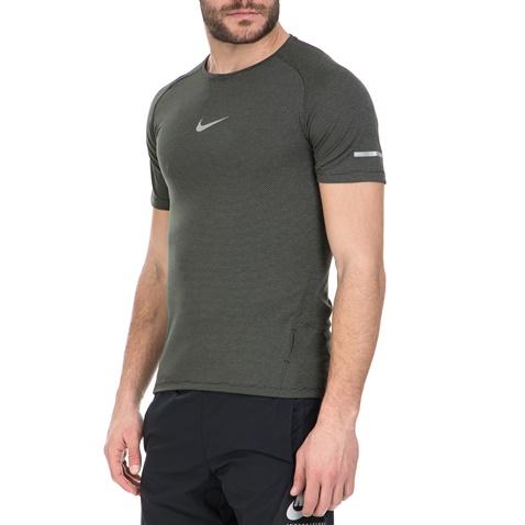 NIKE-Αθλητική κοντομάνικη μπλούζα Nike σκούρο γκρι