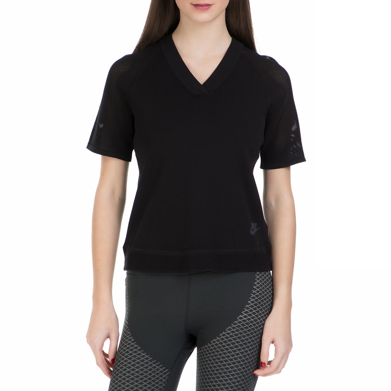 NIKE - Κοντομάνικη μπλούζα Nike μαύρη γυναικεία ρούχα αθλητικά t shirt τοπ