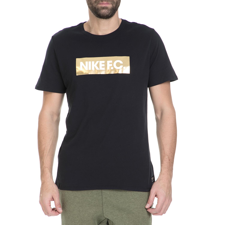 NIKE - Ανδρική κοντομάνικη μπλούζα Nike FC TEE FOIL μαύρη ανδρικά ρούχα αθλητικά t shirt