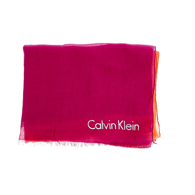 CALVIN KLEIN JEANS - Φουλάρι Calvin Klein Jeans φούξια-πορτοκαλί γυναικεία αξεσουάρ φουλάρια κασκόλ γάντια