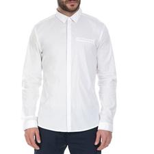 GUESS-Ανδρικό πουκάμισο GUESS λευκό