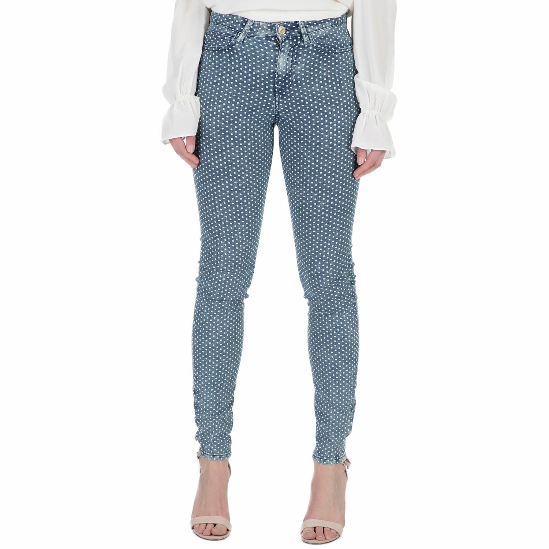 GUESS - Γυναικείο ψηλόμεσο τζιν παντελόνι Guess πουά γυναικεία ρούχα τζίν skinny
